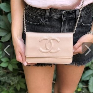 Chanel classic timeless wallet on chain